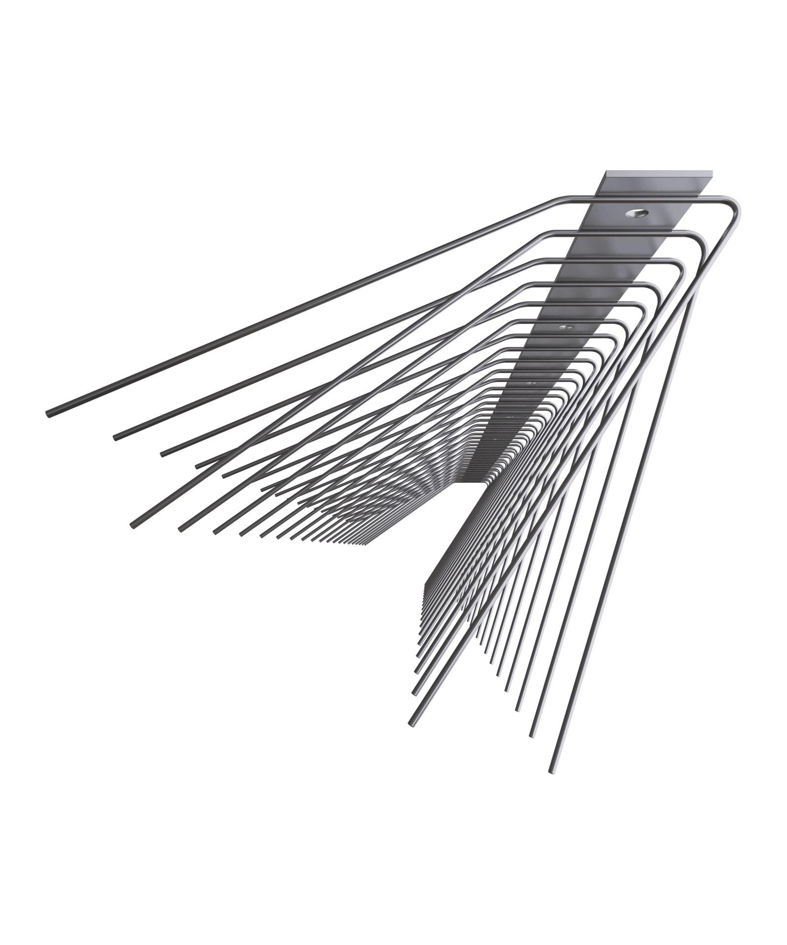 Schwalben-Spitzen 1m lang, Spitzen 1.6 mm stark (Federdraht) 140 und 110 mm lang aus Edelstahl Rostf