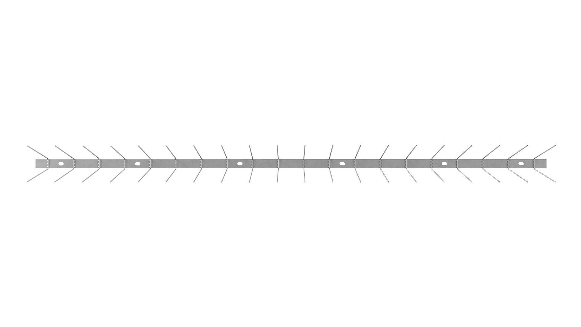 TAS 2er Taubenabwehrspitzen 1m lang, Taubenspikes 1.8 mm stark aus Edelstahl Rostfrei