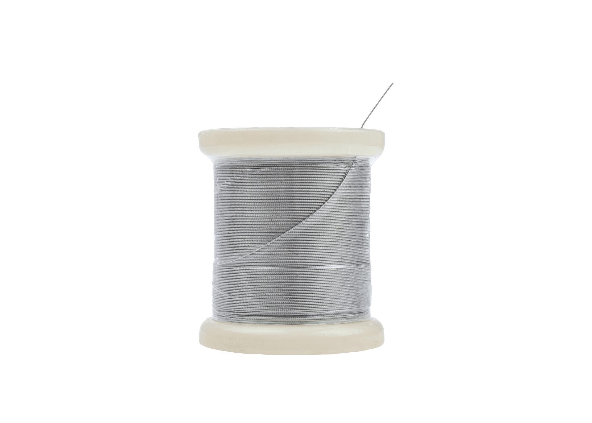 Edelstahlseil 0.54 mm stark 1x7 auf Kunststoffspule aus Edelstahl Rostfrei