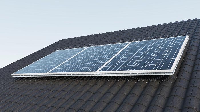 TAS 1er Solarspitzen 1 m lang, 2.0 mm stark, verstellbare Spikes bis max.160 mm aus Edelstahl Rostfrei