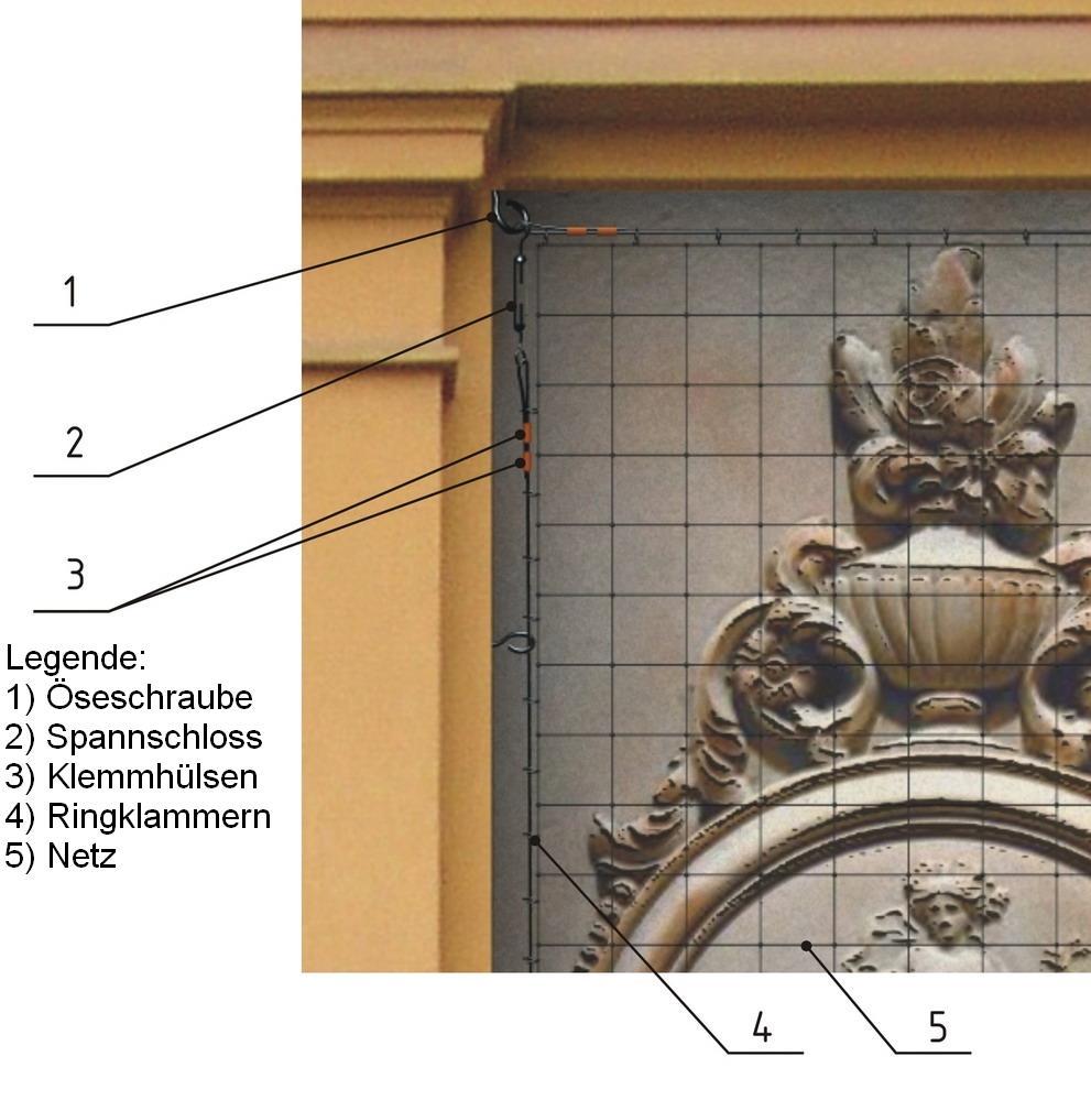 TAN Polyäthylennetz Maschenweite 19x19 mm, Garnstärke 1 mm, 10 m x 10 m (100 m²)