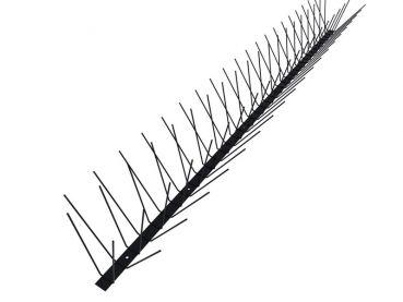 TAS 4er schwarz, Taubenabwehrspitzen 1m lang, Taubenspitzen 1.5 mm (Federdraht) aus Edelstahl Rostfrei