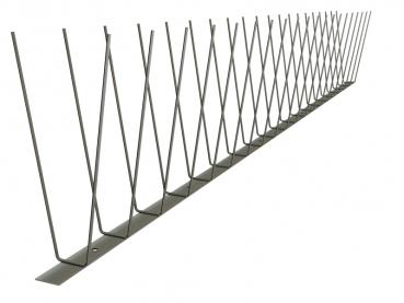 TAS 2er Spitzen ( Möwen / Krähen / Tauben ) 1m lang, Spikes 2.0 mm stark, 180 mm lang aus Edelstahl Rostfrei
