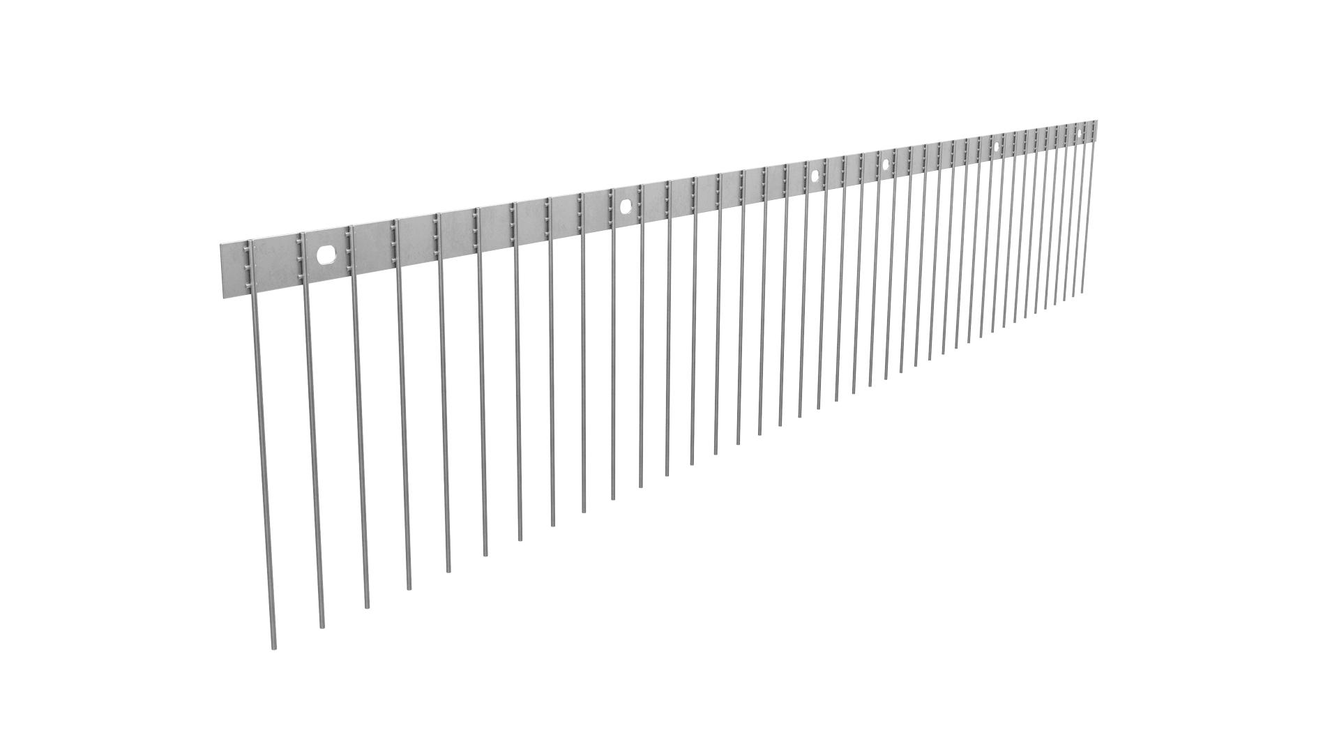 TAS 1er Solarspitzen 1 m lang, Taubenspikes 2.0 mm stark aus Edelstahl Rostfrei