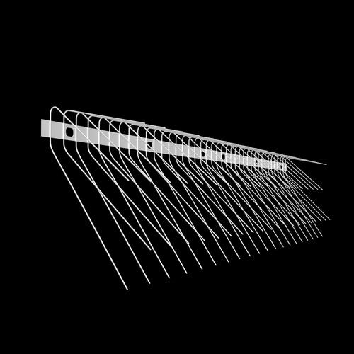 Schwalben-Spitzen 1m lang, Spitzen 1.6 mm stark (Federdraht) aus Edelstahl Rostfrei - Weiss