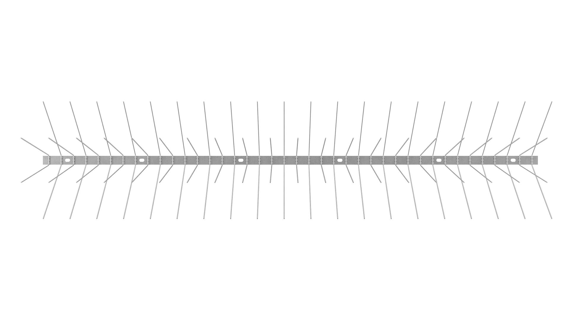 TAS 4er Taubenabwehrspitzen ( Möwen / Krähen / Tauben ) 1 m lang, Spitzen 2.0 mm stark, 147 mm lang aus Edelstahl Rostfrei
