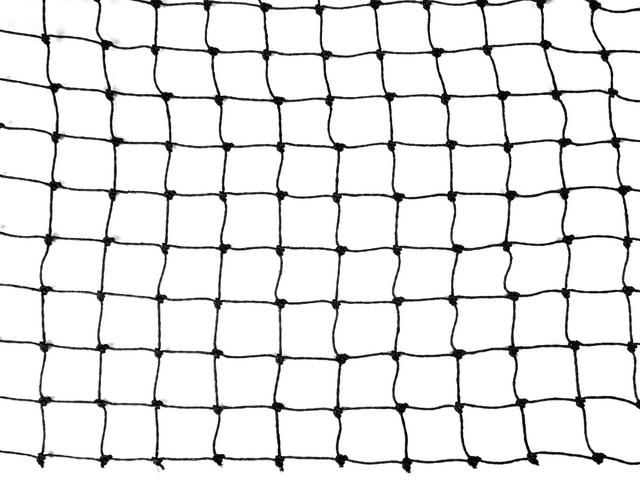 TAN Polyäthylennetz schwarz Maschenweite 19x19 mm, Garnstärke 1 mm, - Zuschnitt