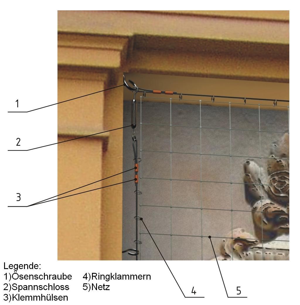 Edelstahlgitter Maschenweite 19 mm, Drahtstärke 1.0 mm, Breite 1.0 m, - Zuschnitt