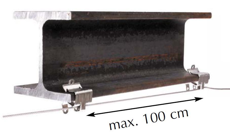 Flanschklemme für Träger aus Edelstahl Rostfrei mit  Lasche