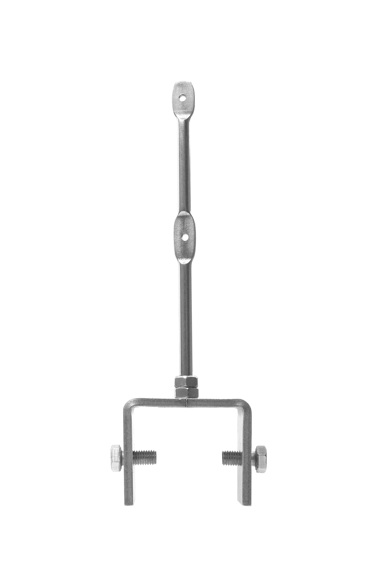 U-Halter bis 33 mm mit 2er Pin und zwei Sechskantschrauben