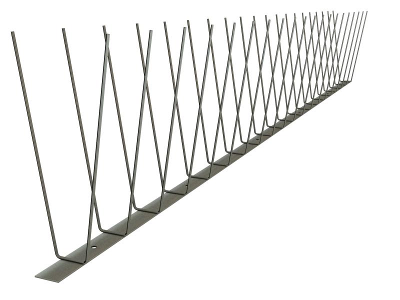 TAS 2er Spitzen ( Möwen / Krähen / Tauben ) 1m lang, Spikes 2.0 mm stark, 147 mm lang aus Edelstahl Rostfrei
