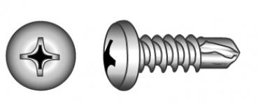 Bohrschrauben Edelstahl 3.5 x 9.5 mm Torx