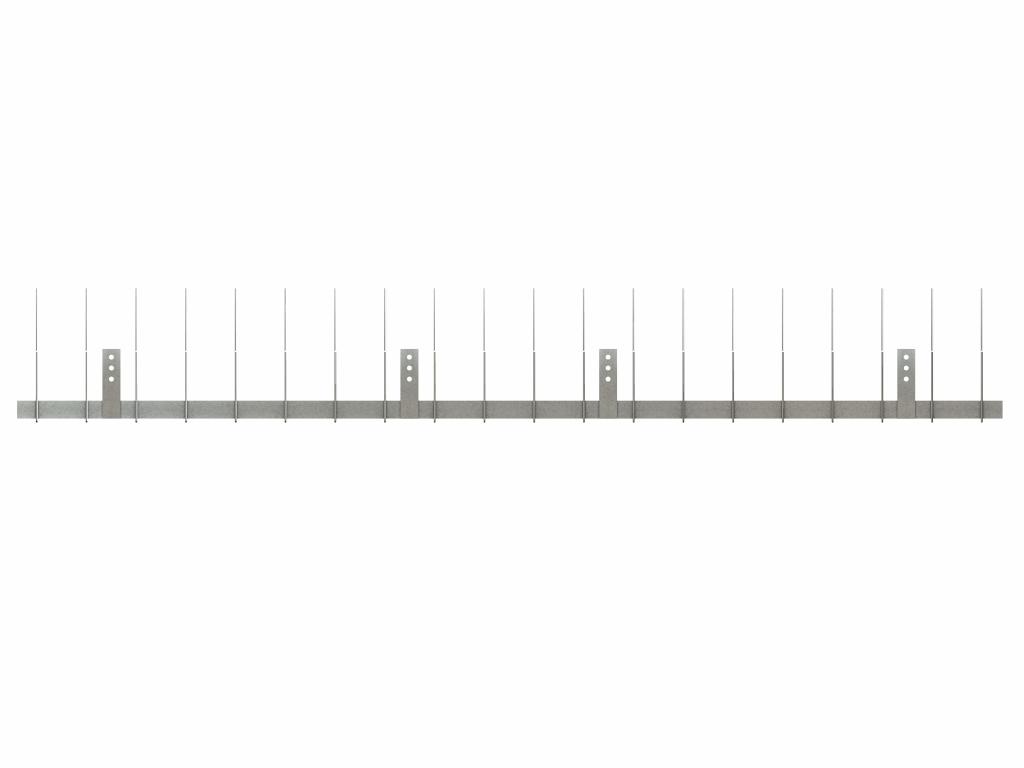 TAS DR Taubenabwehrspitzen für Dachrinne 1 m lang, Taubenspitzen 1.8 mm stark aus Edelstahl Rostfrei