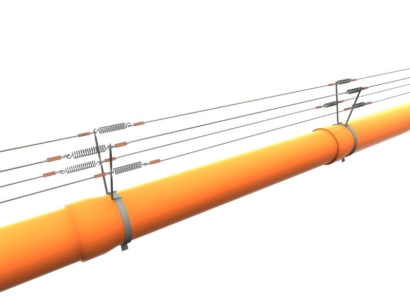 VESPA Rohrhalter 2er D 80 mm mit Unterflugschutz + Mutter und Schraube M5