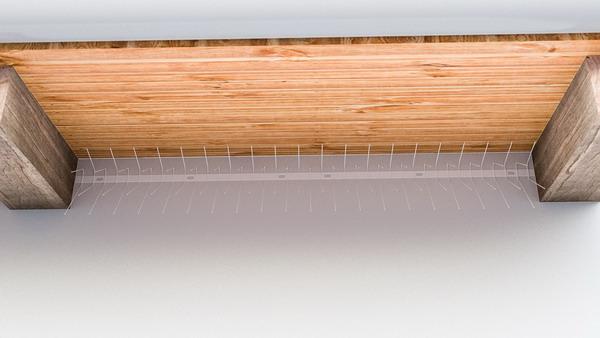 Schwalben-Spitzen 1m lang, Spitzen (Federdraht) aus Edelstahl - Weiss