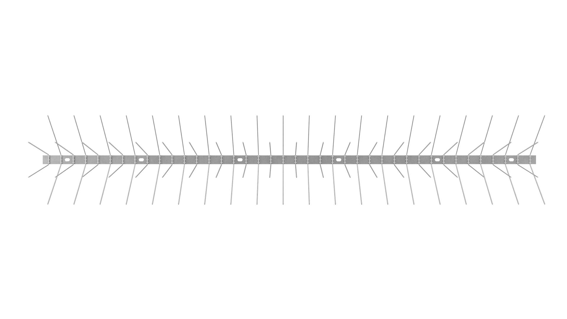 TAS 4er Taubenabwehrspitzen 1m lang aus Edelstahl Rostfrei